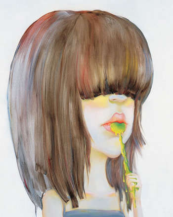 Quirky Cartooned Paintings - Chen Ke Paints Chinese Girls in All Shapes and Sizes