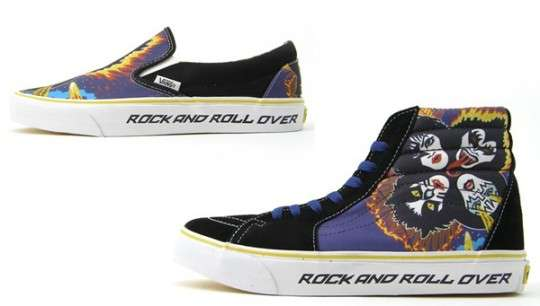 7373f07021a49 Satanic Rock Shoes: Vans Releases KISS Pack Sneakers for Rockstars
