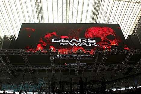 Colossal Video Game Screens - Cowboys Stadium Monitor Used to Play Xbox 360