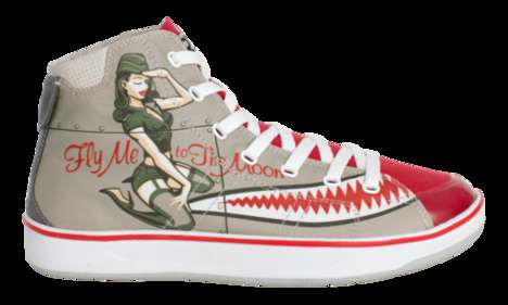 Pin-Up Girl Sneakers - Ryzwear Lets Design Talents Battle For Shoe Contracts Online