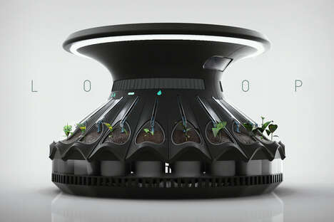Bloom-Shaped Automated Indoor Gardens