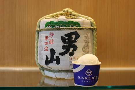 Saké-Flavored Ice Creams