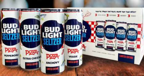 Pizza-Themed Seltzer Packs