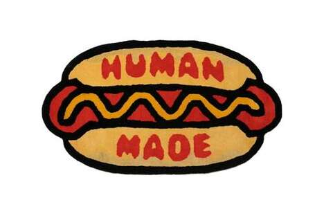 Hot Dog-Shaped Bright Rugs