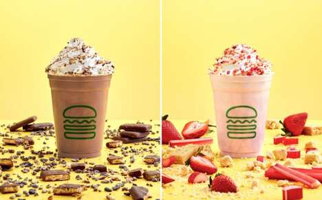 Spring-Themed Milkshake Menus