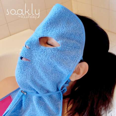 Wearable Facial Soaking Cloths