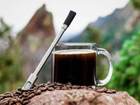 Filter-Equipped Coffee Straws