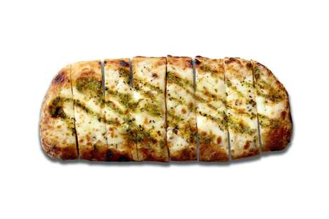 Pesto-Topped Garlic Breads