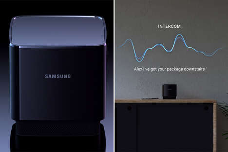 Projector-Equipped Smart Home Hubs