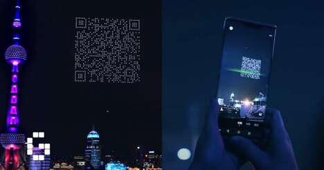 Drone-Created QR Codes