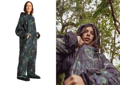Nature-Inspired Wearable Sleeping Bags