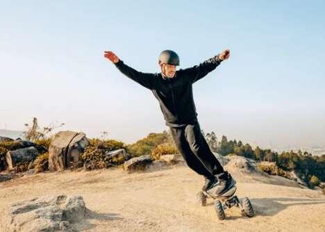 Balanced All-Terrain Electric Skateboards