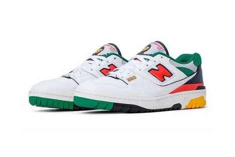 Multi-Tonal Retro Basketball Shoes