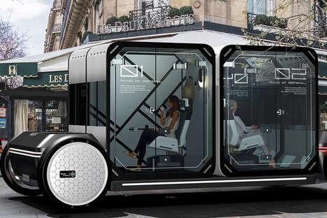 Self-Sanitizing Transport Pods