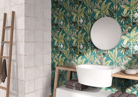 Botanical Tile Wall Coverings