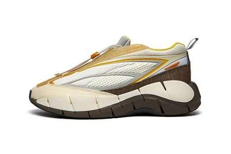 Earthy Tonal Paneling Footwear