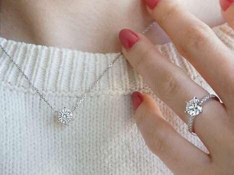 Precision-Cut Diamond-Like Jewelry