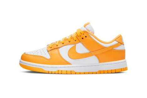 Bright Orange Women Sneakers