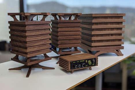 Wooden Stereo Speaker Systems
