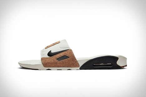 Cork-Accented Slide Sandals