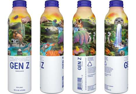 Nostalgic Aluminum Water Bottles