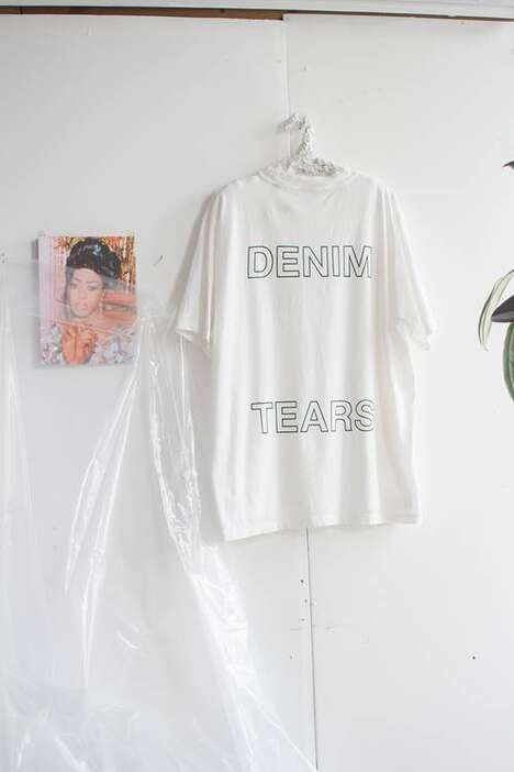 Artful Upcycled Denim Streetwear
