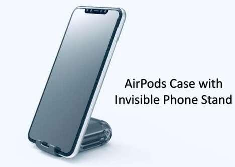Smartphone-Holding Headphone Cases