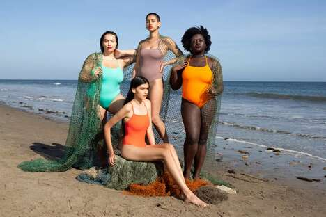 Recycled Fishnet Swimwear