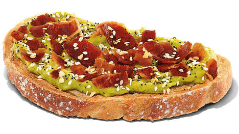 QSR Bacon-Topped Avocado Toasts