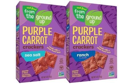 Purple Carrot Cracker Snacks
