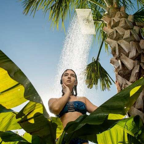 Chic Crystalline Shower Heads