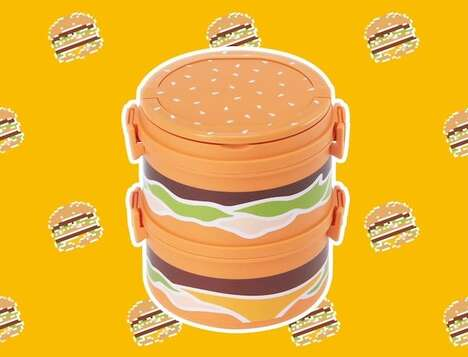 Burger-Shaped Lunchboxes