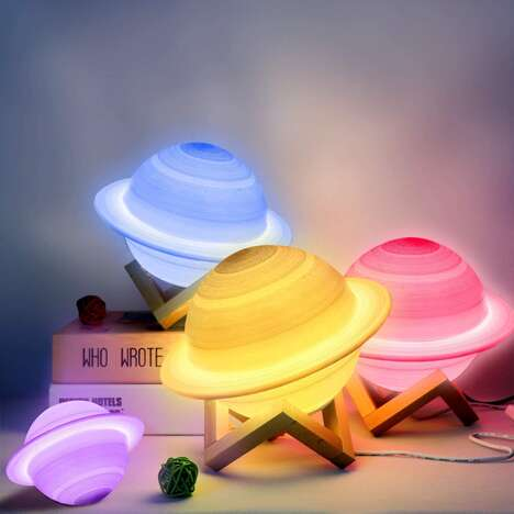 3D Planet-Themed Lamps