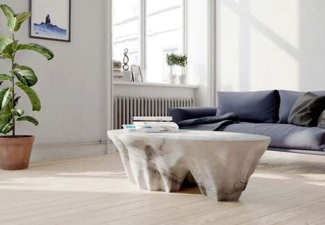 Mountainous Layered Marble Tables