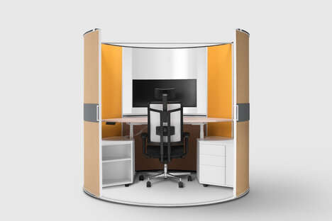 Retractable Privacy Divider Cubicles