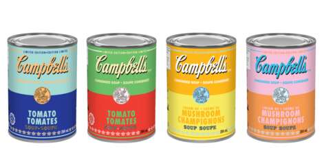 Iconic Artist-Honoring Soup Cans