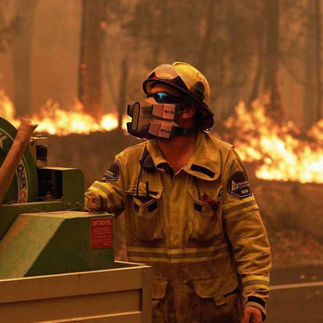 Futuristic Firefighter Face Masks