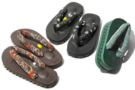 Traditional-Themed Fabric Sandals