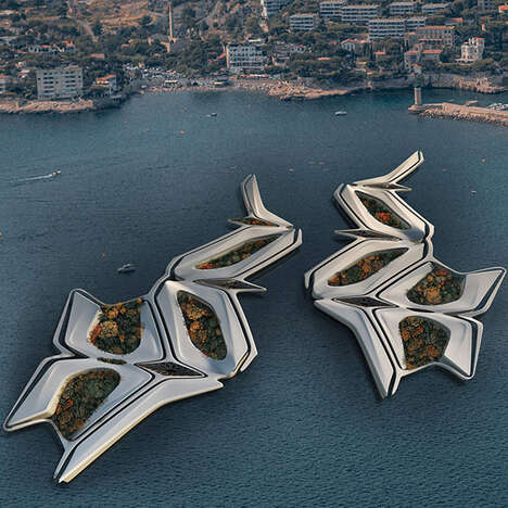 Ornate Biophilic Floating Cities