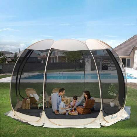 Enclosed Oversized Backyard Tents
