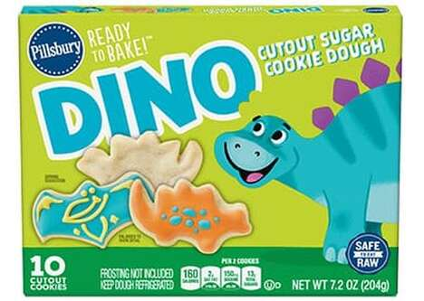 Precut Dinosaur Cookie Doughs
