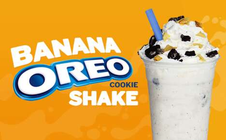 Cookie-Studded Banana Shakes