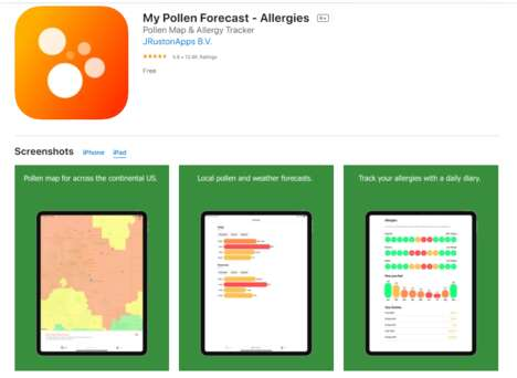 Symptom-Tracking Allergy Apps