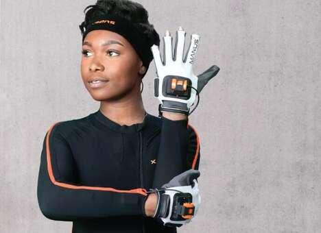 Finger-Tracking VR Controller Gloves