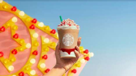 Strawberry Funnel Cake Beverages