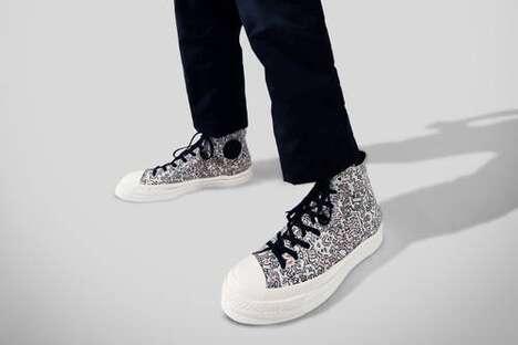 Artful Doodle Graphic Footwear