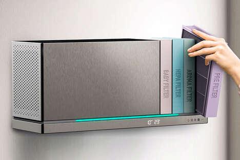 Bookshelf-Inspired Air Purifiers