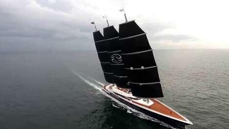 Sleek Three-Mast Superyachts