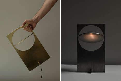 Minimalist Metal Sheet Illuminators