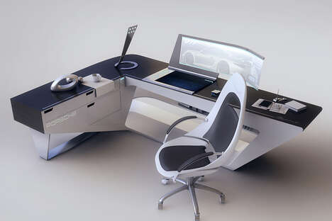 Sleek Otherworldly Work Desks